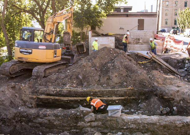 Archaeology in Downtown Minneapolis